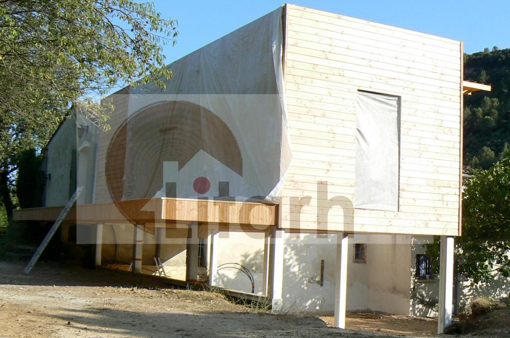 extension  SolliesToucas  dep 83 VAR  Maison Bois Roumanie