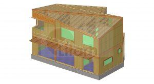 maison bois Litarh - Ciurea
